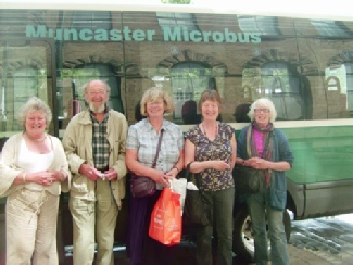 Irton Art group -- visit to David Hockney gallery on the Muncaster Microbus